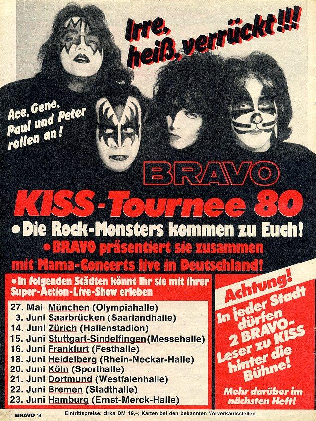 Kiss In Deutschland 1980